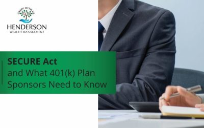 *BREAKING NEWS* SECURE Act and What 401(k) Plan Sponsors Need to Know